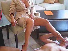 Hot Lady Barbara Having Foot Massage