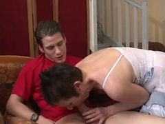 French Cougar Sucking And Fucking A Big Juicy Cock