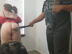 Red Head Slut Gets Flogged