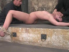 Devaun in her first Hogtied shoot suffersthough a real ...