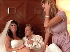 Maid Kelly Madison shares the groom with Sienna West