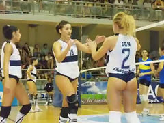 Volleyball Girls Jerk Off Challenge