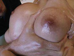 hot blonde gets her pussy fingered at massage