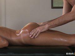 brunette getting her ass massaged