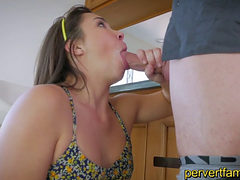 Horny Daughter Sucks Dad Next To Mom