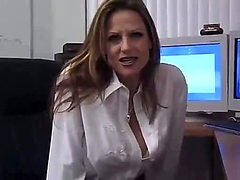 Busty office girl has hardcore sex