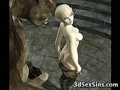 3D Ogres Fuck Cute Babes