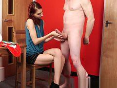 CFNM fetish beauty teasing naked guy