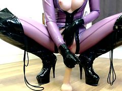 Riding Cock in My Latex Catsuit