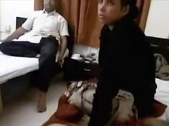 Indian wife enjoyable her hubby boss for his premossion