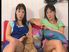 Teen lesbian Bids Boredom Goodbye with Hot Action