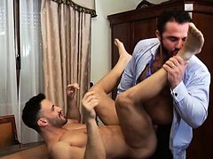 Muscle gay anal sex with cumshot