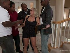 stylish milf banged by black thugs