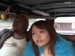 Miyo Kasuge Licks And Sucks Cock In The Car