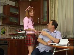 STP1 Daddy Checks Her Schoolwork And She Gives Him A Fu...