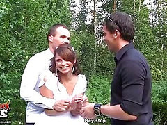 Drunk newlyweds fucking outdoors