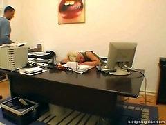 Fucked behind her desk