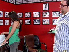 hot babe getting a new tattoo