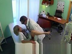Sexy Blonde Nurse Fucked By Doctor In His Office