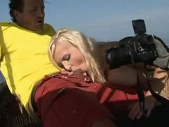Blonde Diana Gold Gets a DP At 8000 Feet Above The Grou...