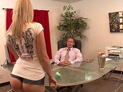 Sexy Blonde Maid Sucking Dick