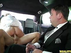 Milf bride spread her legs wide to the dick