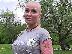 Busty Czech Blonde Banged In The Park