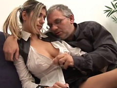 Teen Babe With Old Man