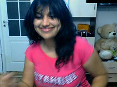 Chubby amateur Indian black head webcam flashes her sex...