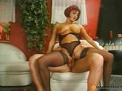 Fucks woman tearing at her panties