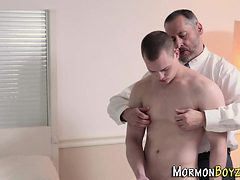 Mormon twink gets tugged