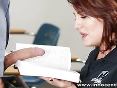InnocentHigh Young innocent brunette student tempted to...