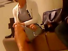 German mature heel shopping and teasing