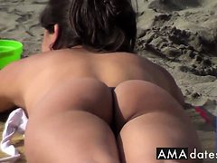 Argentinian Girl with Amazing Butt on the La Boca Beach