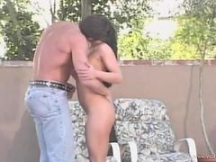 Sassy Brunette Milf Gets An Outdoor Fuck By The Pool's ...