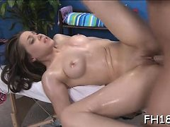 Lovely girl receives her snatch team-fucked