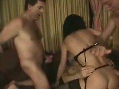 Three Cocks Tear Swinger Slut Up