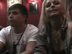 Amateur and hot action with a crazy blonde slut whose n...