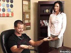 Sexy secretary gets riden by her boss