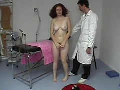 CMNF - Shy redhead spanked and stripped
