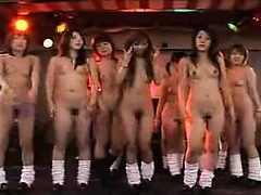Wild Oriental babes expose their bodies and engage in h...