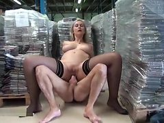 Beauteous buxomy mature female is pounded in the ass ou...
