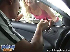 An attractive blonde on the car wash practices sex for ...