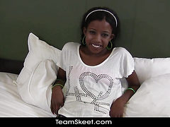 TeenyBlack Schoolgirl ebony teen Nevaeh interracial fac...