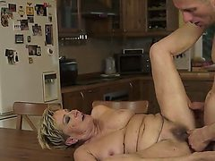 Hardcore and crazy action with a horny and old slut nam...