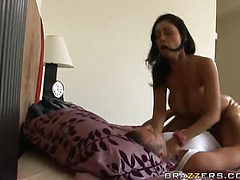 Mexican porn star getting sperm to the mouth!