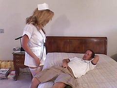 glasses huge tits nurse serving the patient at hospital