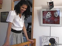 Black girl lifts her leg