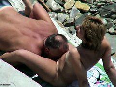 Voyeur on public beach Oral Sex sex