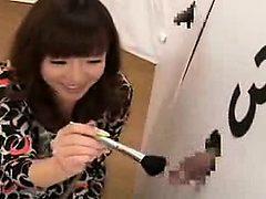 Stacked Japanese cutie deepthroats a hard shaft and get...